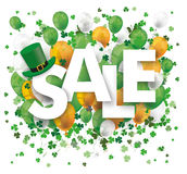 Sale Balloons Shamrock St Patrick Royalty Free Stock Images