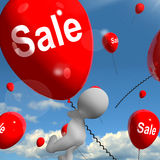 Sale Balloons Shows Offers in Selling and Discounts Stock Photo