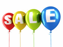 Sale balloons Stock Image
