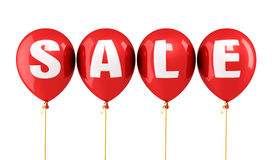 Sale balloons. Sale writing red balloons isolated and clipping path Royalty Free Stock Photos