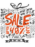 Sale baner-, affisch- eller reklambladdesign Royaltyfri Fotografi