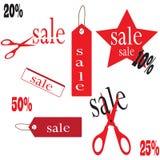 Sale baner av olika format Royaltyfria Bilder