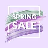 Sale baner i lila färger Royaltyfria Bilder