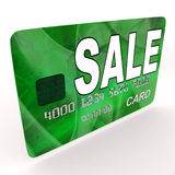 Sale Bank Card Means Retail Price Reduction Royalty Free Stock Photo