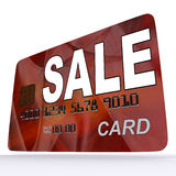 Sale Bank Card Shows Retail Bargains And Discounts Royalty Free Stock Images