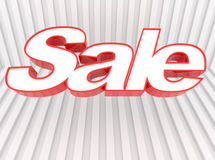 Sale Banner. An illustrated background with a SALE sign on an abstract striped design Stock Images