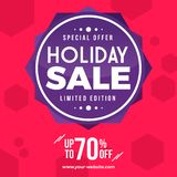 Sale Banner Abstract BAckground. Special Discount Abstract Backgound banner stock illustration
