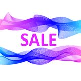 Sale banner abstract colorful design. Sale poster Royalty Free Stock Image