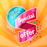 Sale banner. Advertising flyer for commerce, discount and special offer Royalty Free Stock Image
