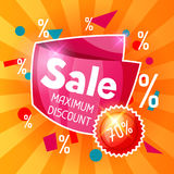 Sale banner. Advertising flyer for commerce, discount and special offer Royalty Free Stock Images