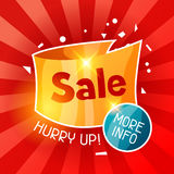Sale banner. Advertising flyer for commerce, discount and special offer Royalty Free Stock Photos