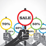 Sale banner background Royalty Free Stock Images