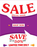 Sale Banner and Best Offer design Royalty Free Stock Photos