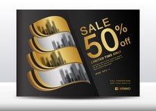 Sale Banner, Billboard, Brochure flyer for cosmetics, Banner design Template vector illustration. Display, advertisement layout, poster, card, Cover, magazine stock illustration