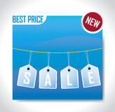 Sale Banner Blue Color Royalty Free Stock Photo