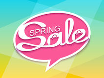 Sale banner with calligraphic inscription in comic speech bubble Royalty Free Stock Photography