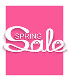 Sale banner with calligraphic inscription Stock Photos
