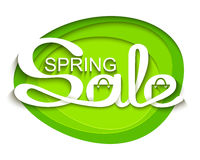 Sale banner with calligraphic inscription Stock Photography