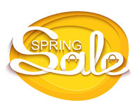 Sale banner with calligraphic inscription Royalty Free Stock Images