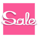 Sale banner with calligraphic inscription Stock Image