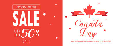 Sale banner Canada Day Royalty Free Stock Images