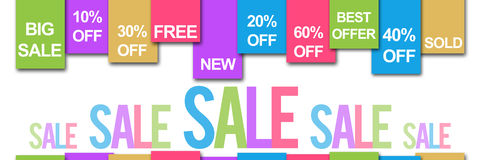 Sale Banner Colorful Text Royalty Free Stock Photo