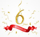 Sale banner with confetti. Illustration of Sale banner with confetti Royalty Free Stock Photography