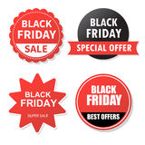 Sale banner design. Collection of Black Friday  colored banners Royalty Free Stock Image