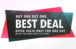 Sale banner design in red and black geometric shape. Vector Stock Images
