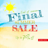 Sale banner design template Royalty Free Stock Image