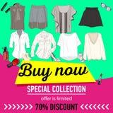 Sale banner design template on white background,vector illustration. Stock Images