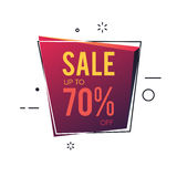Sale banner, discount up to 70 Royalty Free Stock Image