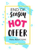 Sale banner. End of season. Hot offer Stock Photography