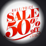 50 % sale banner. Eps 10 Royalty Free Stock Images