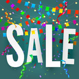 Sale banner on festive background Stock Images