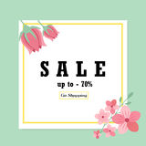 Sale banner with floral ornament Stock Photography