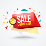Sale banner funny style. stock illustration