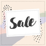 Sale banner graphic style pastel coloe brush stroke Stock Photos