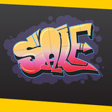 Sale banner in graphite style. Stock Photography