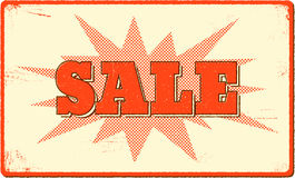 Sale banner with halftone bang shape Royalty Free Stock Photo