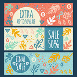 Sale banner hand drawn Royalty Free Stock Photography