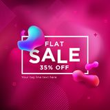 Sale Banner on Liquify and Fluid Shape Background vector illustration