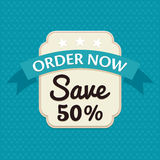 Sale banner. Offer and Sale badge, promotion seal concept Royalty Free Stock Images