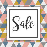 Sale Banner for online shop or store geometric background. Stock Images