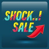 Sale banner 70 percent 3D style. Stock Image