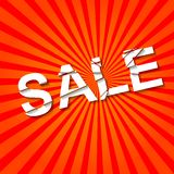 Sale banner. Picture of banner with the word sale, vector eps 10 illustration stock illustration
