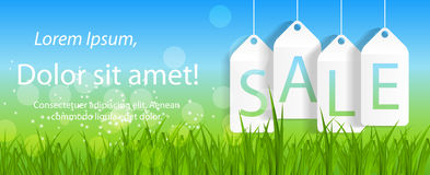 Sale Banner with Place for Your Text. Vector Illustration Royalty Free Stock Image
