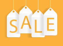 Sale Banner with Place for Your Text. Vector Illustration Royalty Free Stock Images