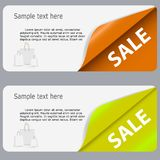 Sale Banner with Place for your Text. Vector Stock Photo