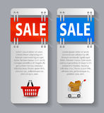 Sale Banner with Place for your Text. Vector Royalty Free Stock Images